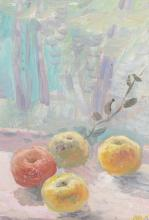 French School (20th Century) - Still life of apples