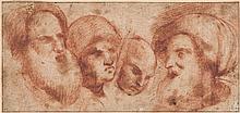 Northern Italian School (possibly 16th century) - Head studies