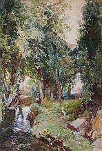 Samuel John Lamorna Birch (1869-1955) - A silvery stream, Cornwall