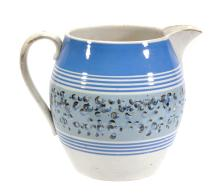 A British pottery mocha ware jug, of so called 'Dutch' type