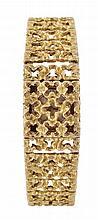 Girard Perregaux, a lady's 18 carat gold bracelet