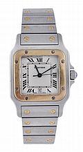 Cartier, Santos, a midi two colour bracelet wrist
