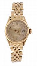 Rolex, Datejust, a lady's 18 carat gold
