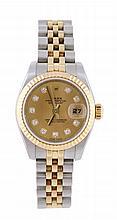 Rolex, Datejust, a lady's two colour wristwatch,