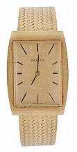 Zenith, a gentleman's 18 carat gold wristwatch,
