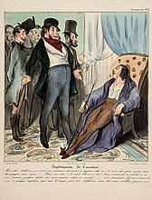 Daumier (Honoré) - A group of 6 caricatures for Caricaturana and 6 more for Histoire Ancienne,