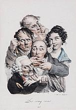 Boilly (Louis Leopold) - A group of 12 caricature plates for Recueil de Grimaces,