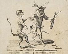 Guélard (Jean Baptiste) - [Singeries ou différentes actions de la vie humaine représentées par des singes],