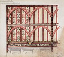 C.E. Kempe & Co Ltd: - Original suggested design for decoration of Chancel Roof, Sandringham Church,