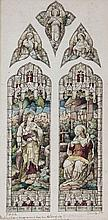 Heaton (Clement),  Butler (James), Bayne (Robert) - 2 original designs for stained glass windows,