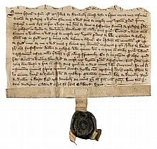 Medieval Lancashire.- - Bolton by Bowland, Ribble Valley. Charter of John de Bolton to...