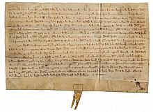 Medieval Devon.- - Charter of enfeoffment by Walter Wodecock [Woodcock] of Bere...