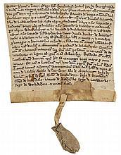 Medieval Lancashire.- - Burscough Priory. Charter by Benedict, prior of Burscough Priory