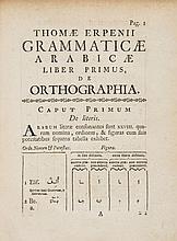 Erpenius (Thomas) - Grammatica Arabica cum fabulis Lokmani...,