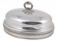 A Victorian electro-plated oval domed meat cover