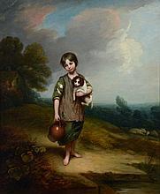 Circle of Thomas Barker, 'Barker of Bath' - The Cottage Girl