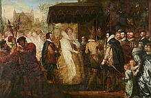 Queen Elizabeth going in Procession to St