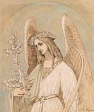 Henri J. François, Baron de Triqueti (1807-1874) - Study for an angel,
