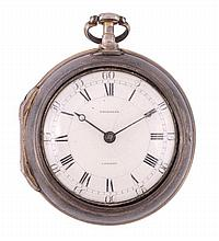 An interesting George III silver pair-cased pocket watch William Frodsham