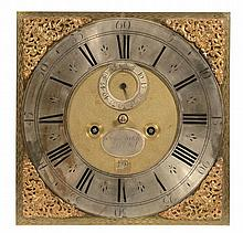 A Queen Anne eight-day longcase clock movement and dial Samuel Stretch, Bristol