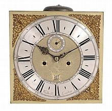 A Queen Anne eight-day longcase clock movement and dial Joseph Windmills