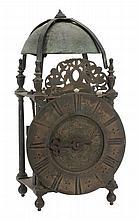 A Queen Anne brass lantern clock John Walter, Honiton