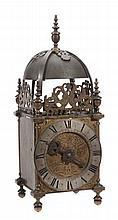 A fine and well documented Charles II brass lantern clock George Newton, Seend