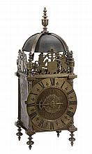 A fine and well documented William and Mary brass lantern clock Thomas Veale