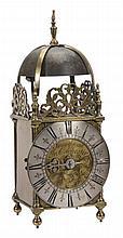A Queen Anne brass lantern clock John Smorthwait, Colchester