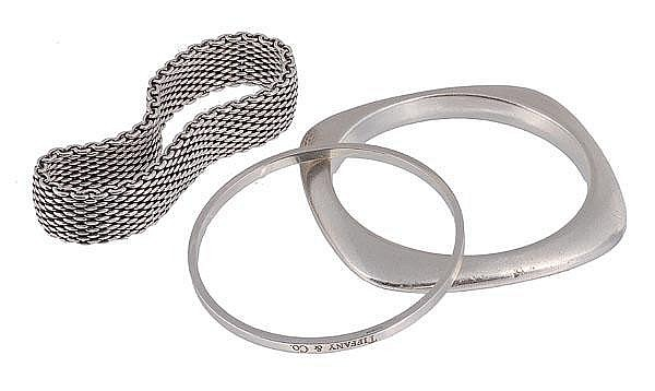 * Tiffany & Co., a silver bangle, maker's marks,