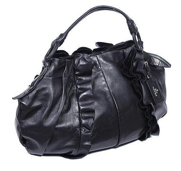 Prada, a black nappa leather tote bag, design no.