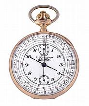 A. Ferreol, an 18 carat gold open face chronograph