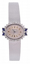 Longines, a lady's 18 carat white gold wristwatch,