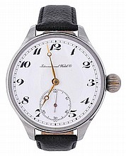 A gentleman's stainless steel wristwatch, the two