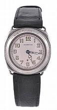 Harwood, a gentleman's silver wristwatch, circa