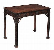 A mahogany silver table, circa 1770 and later