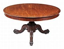 An early Victorian mahogany centre table , second quarter 19th century