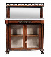 A George IV rosewood side cabinet , circa 1825