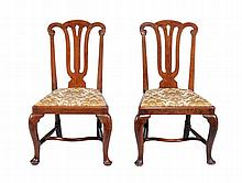 A pair of George II walnut chairs , circa 1735, probably East Anglian