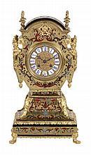 A French Boulle mantel clock in 'Tete de Poupe' style , Bon à Paris