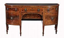 A Regency mahogany and satinwood crossbanded sideboard, circa 1810