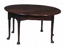 A George II mahogany drop leaf supper table, circa 1750