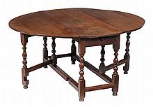 A William & Mary oak gateleg dining table, circa 1690