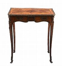 A French Kingwood and gilt metal mounted side table , 19th century