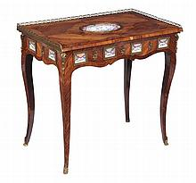 A French kingwood writing table , 18th century and later