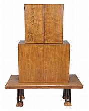 John Makepeace, OBE , a walnut Cluster double cabinet on stand