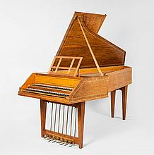 A two-manual harpsichord by Robert Goble & Son, Oxford, 1973