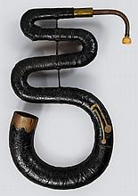A four-keyed English serpent, circa 1840