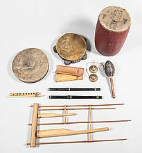 A group of mostly Eastern musical instruments, a duff