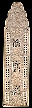 A Chinese Export ivory cribbage board of